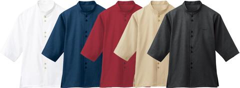 ビースパ/マオカラーシャツ(七分袖)[男女兼用]
