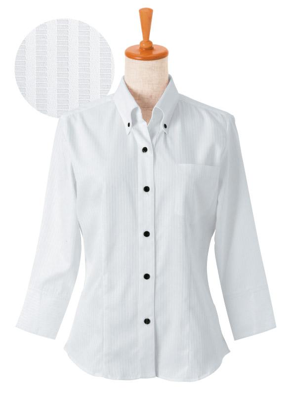 ボンユニ/ボタンダウンシャツ(七分袖)