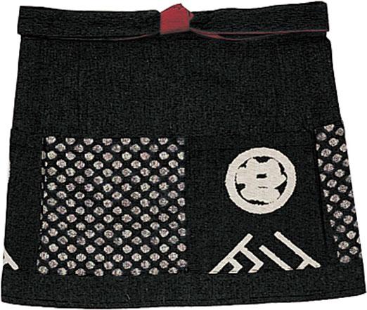 ボンユニ/前掛け/黒(99)