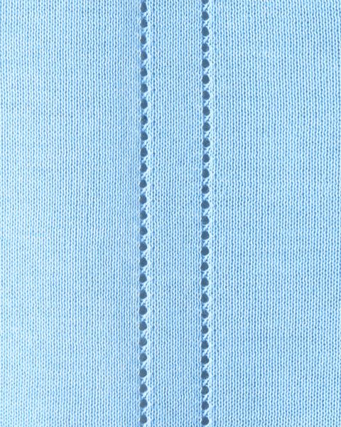 綿混透かし編みカーディガン