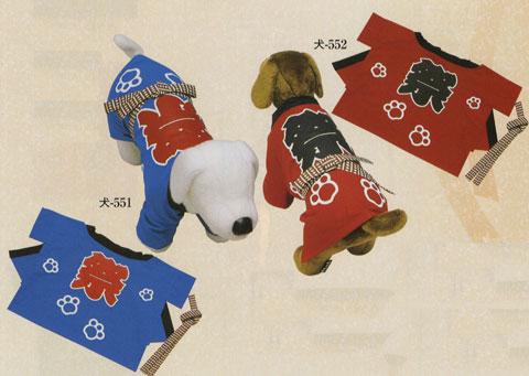 日本の歳時記/シルクプリントペット袢天/犬