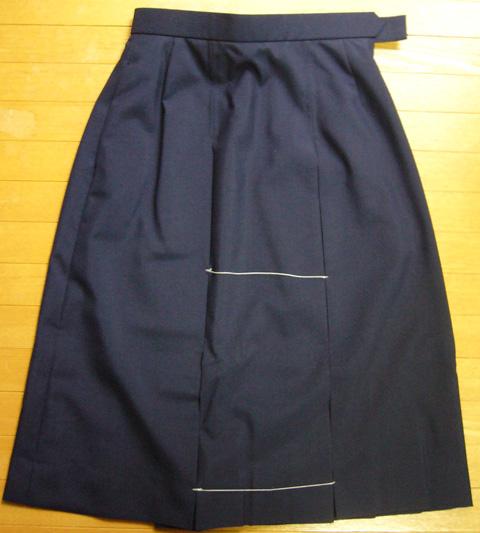 秋冬ボックススカート(W57-W75)/紺生地