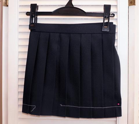 春夏スカート/紺生地